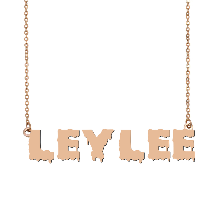 Custom Leylee Name Necklace Personalized Gift for Halloween Easter Christmas