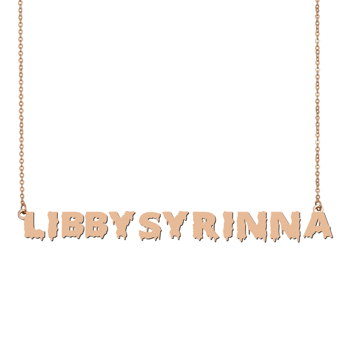 Custom LibbySyrinna Name Necklace Personalized Gift for Halloween Easter