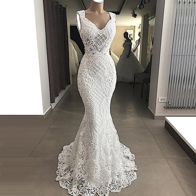 vestido de noiva lace applique mermaid wedding dresses for bride 2021 modest