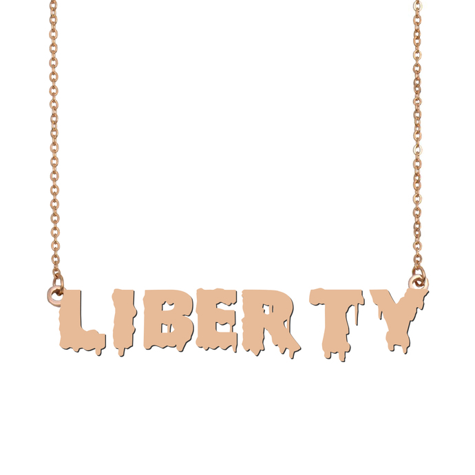 Custom Liberty Name Necklace Personalized Gift for Halloween Easter Christmas