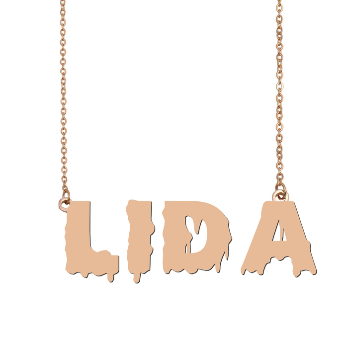 Custom Lida Name Necklace Personalized Gift for Halloween Easter Christmas