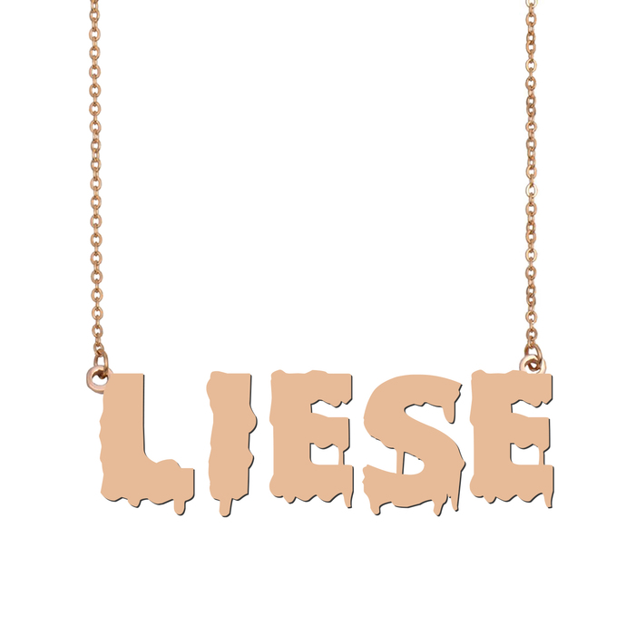 Custom Liese Name Necklace Personalized Gift for Halloween Easter Christmas