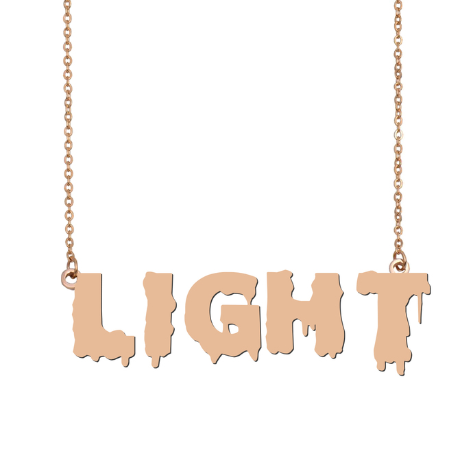 Custom Light Name Necklace Personalized Gift for Halloween Easter Christmas