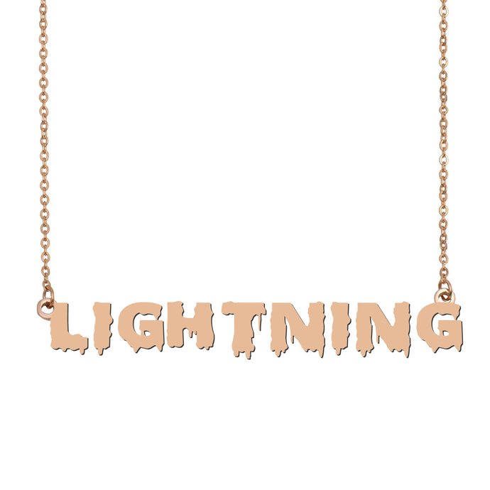 Custom Lightning Name Necklace Personalized Gift for Halloween Easter Christmas