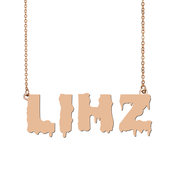 Custom Lihz Name Necklace Personalized Gift for Halloween Easter Christmas