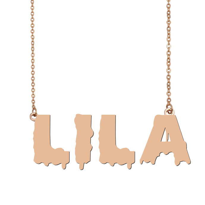 Custom Lila Name Necklace Personalized Gift for Halloween Easter Christmas