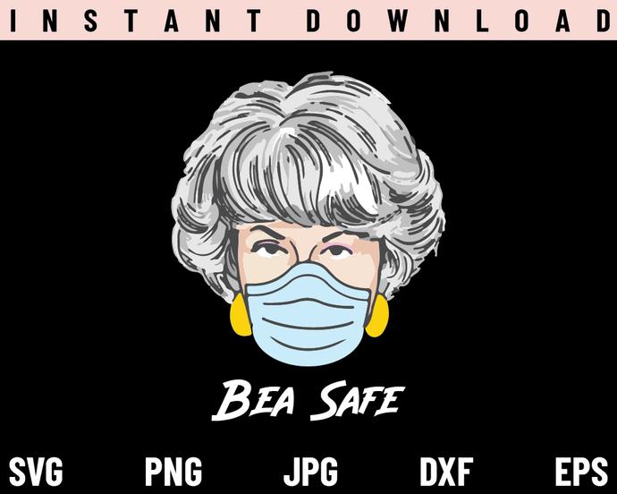 Golden Girls Dorothy Bea Safe Mask SVG, PNG, DXF, Cricut, Cut File, Clipart,