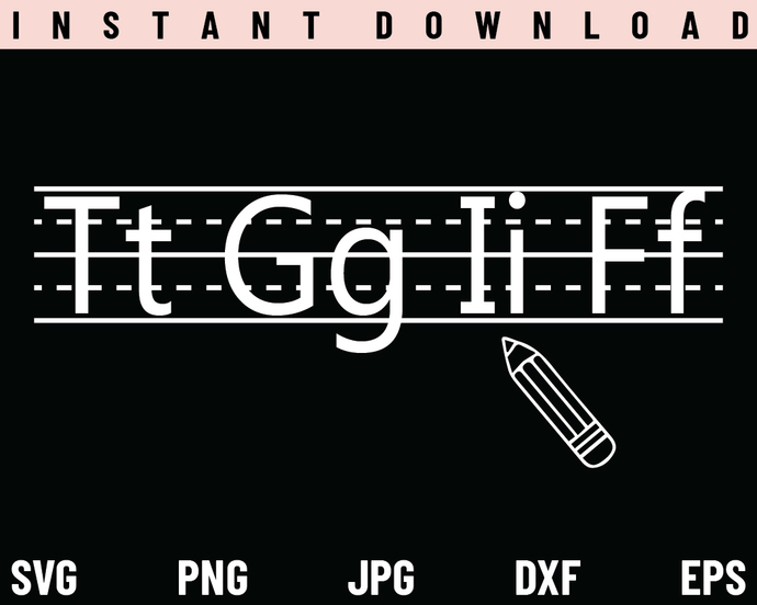 Teacher SVG, TGIF SVG, School SVG, PNG, DXF, Cricut, Cut File, Clipart, Instant