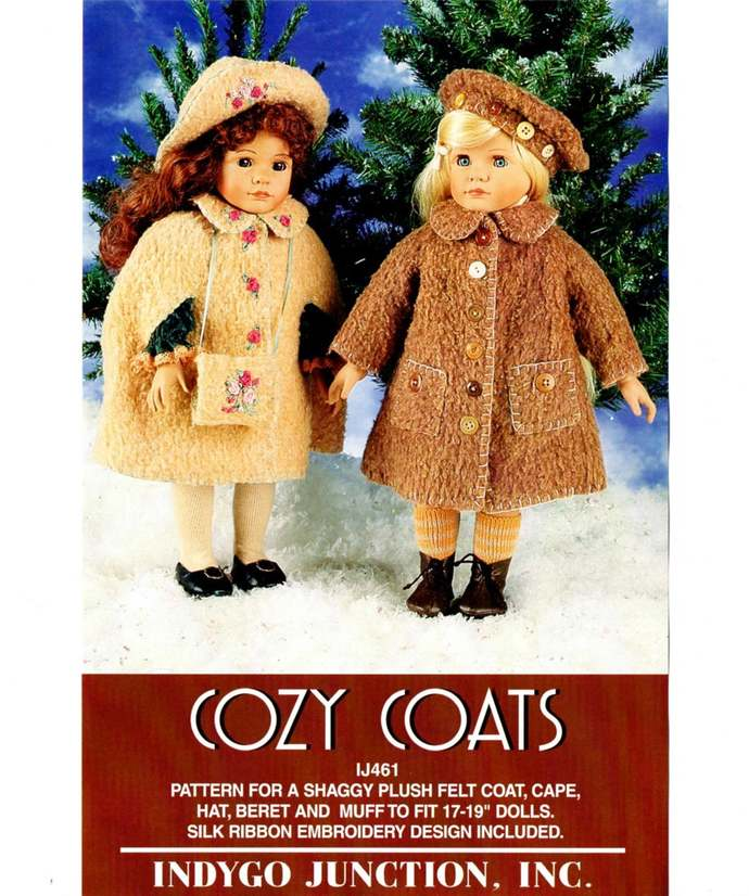 Indygo Junction IJ461 Cozy Coats, Hats, Muff Doll Clothes 90s Vintage Sewing