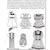 """Doll Emporium DE 600 18"""" Doll Clothes 90s Vintage Sewing Pattern Uncut American"""