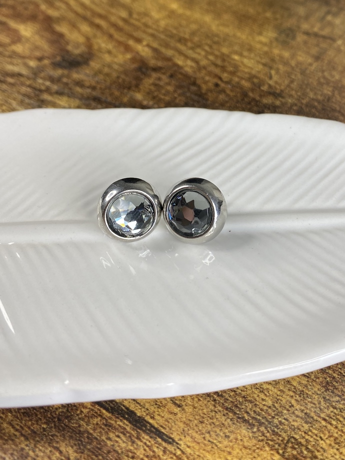 Rhinestone Studded Earrings