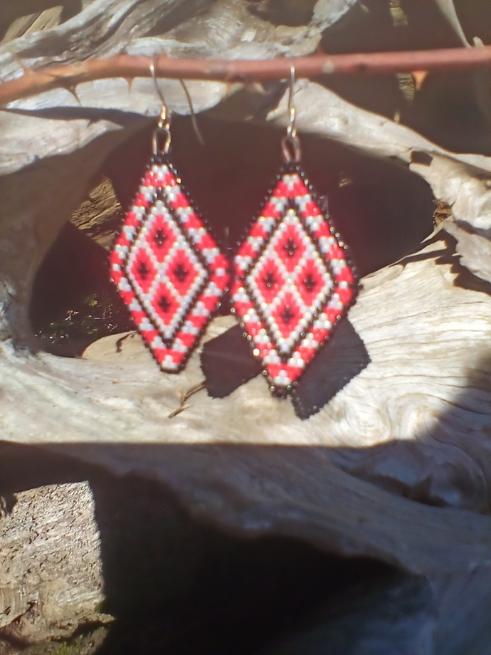 Made earrings by a disabled vet