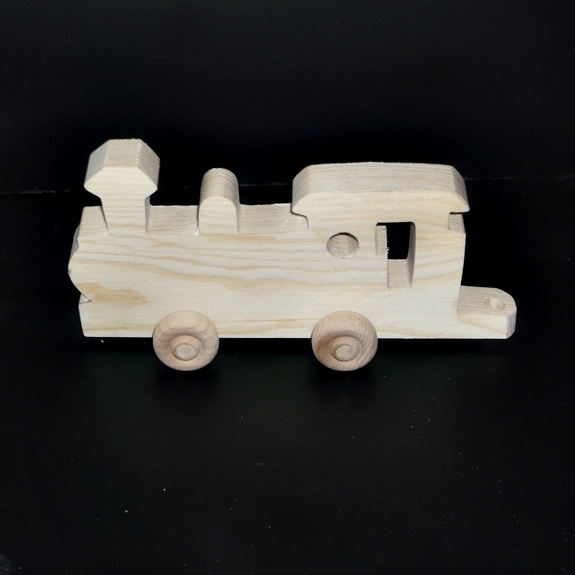 Birthday Party Pack 20 Wood Toy Train Engines BP-257CBH-U unfinished or finished