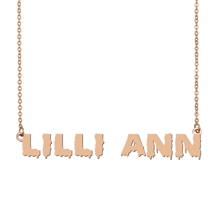 Custom Lilli-Ann Name Necklace Personalized Gift for Halloween Easter Christmas