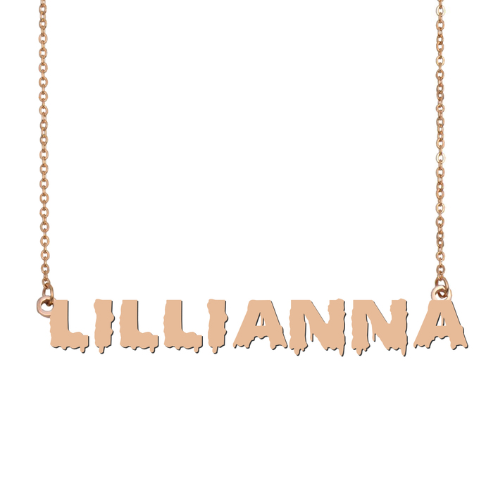 Custom Lillianna Name Necklace Personalized Gift for Halloween Easter Christmas