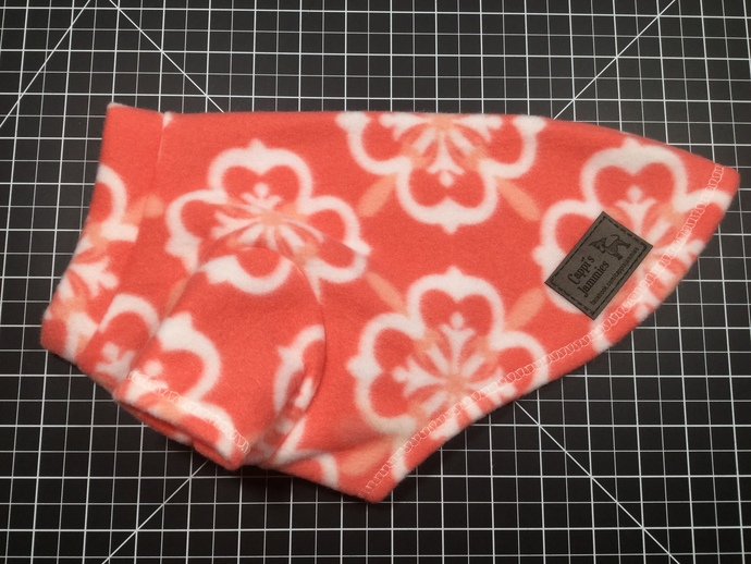 EXTRA SMALL SHORT 2 LEG CORAL FLOWER JAMMIE WITH SHORT NECK