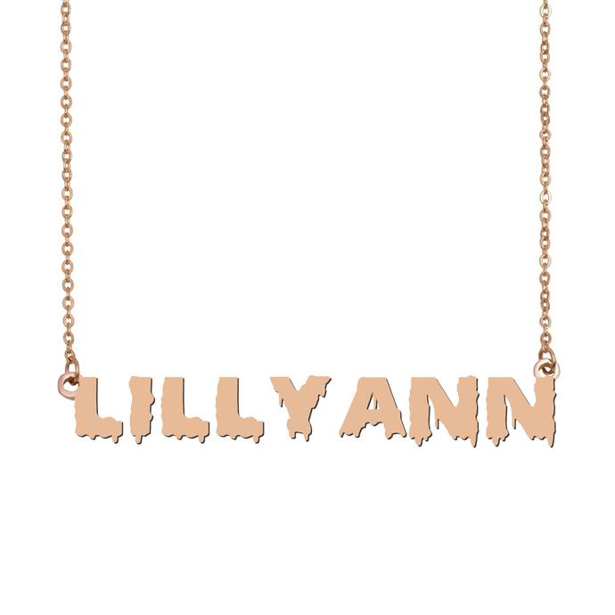 Custom LillyAnn Name Necklace Personalized Gift for Halloween Easter Christmas