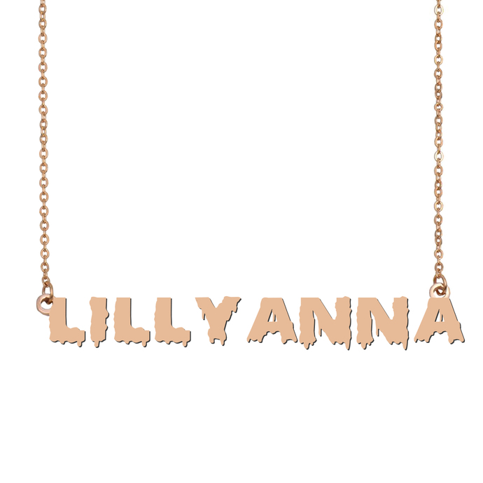 Custom Lillyanna Name Necklace Personalized Gift for Halloween Easter Christmas