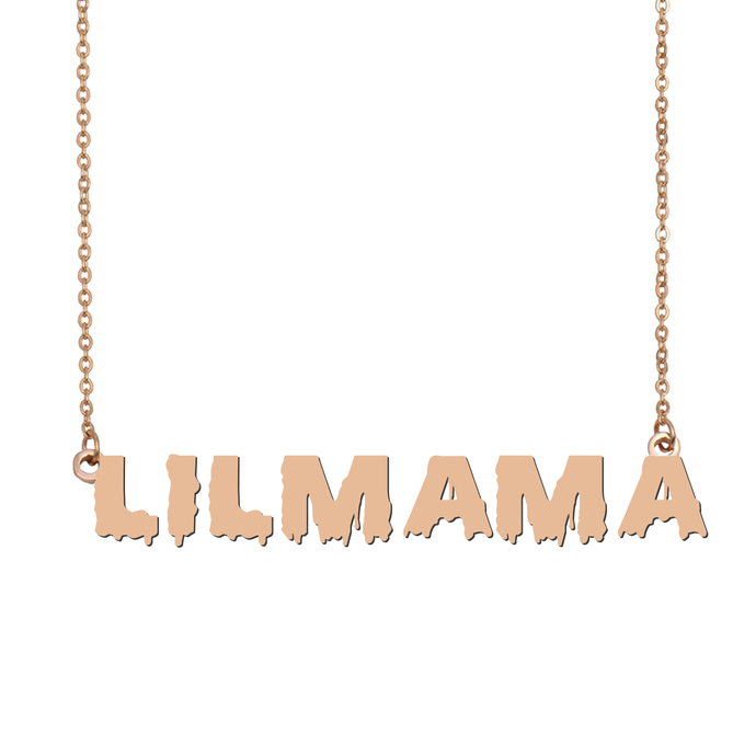 Custom lilmama Name Necklace Personalized Gift for Halloween Easter Christmas