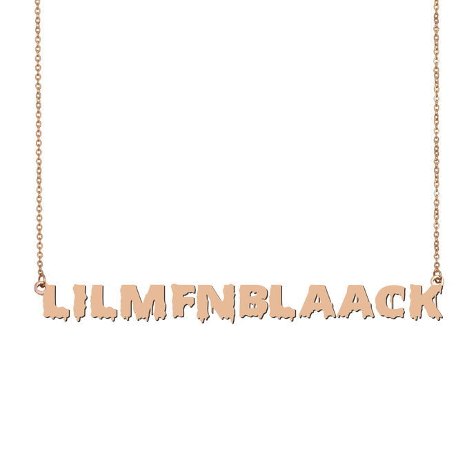 Custom lilmfnblaack Name Necklace Personalized Gift for Halloween Easter