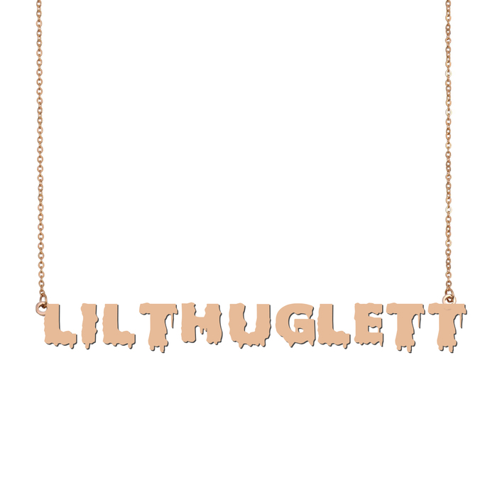 Custom LilThuglett Name Necklace Personalized Gift for Halloween Easter