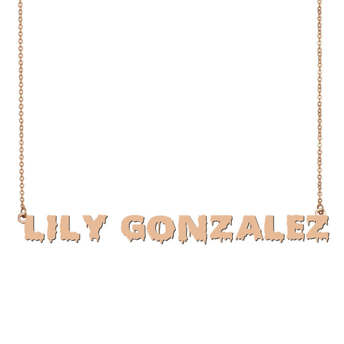 Custom Lily Gonzalez Name Necklace Personalized Gift for Halloween Easter