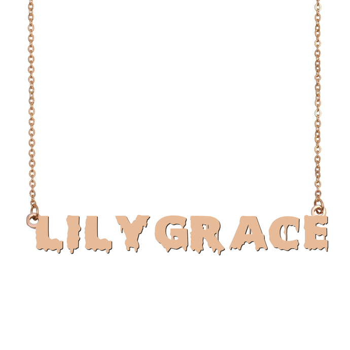 Custom LilyGrace Name Necklace Personalized Gift for Halloween Easter Christmas