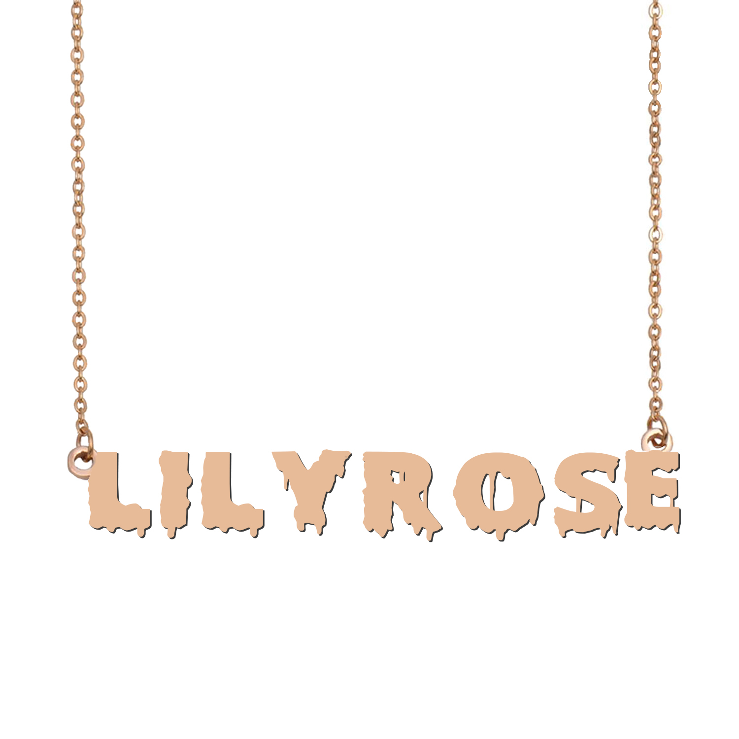 Custom LilyRose Name Necklace Personalized Gift for Halloween Easter Christmas