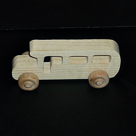 Birthday Party Pack 20 Handcrafted Wood Toy School Buses BP-87BH-U unfinished or