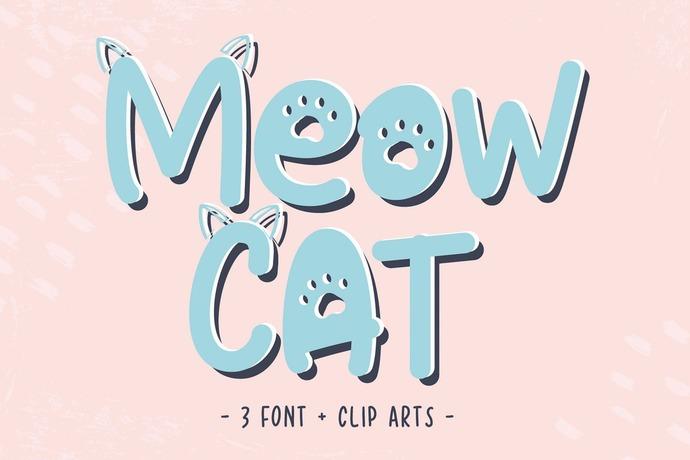 Hand Drawn Font, Premium Font, Lovely Font, Cat Font, Calligraphy Font, Graphic
