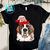 Black Base Saint Bernard Christmas PNG, Saint Bernard PNG, Dog PNG, Christmas