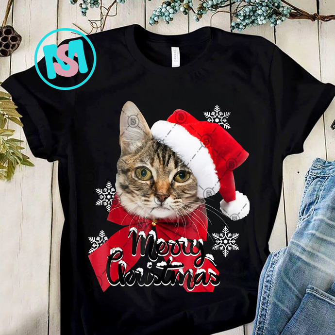 Christmas Cat PNG, Cat PNG, Animals PNG, Merry Christmas PNG, Digital Download