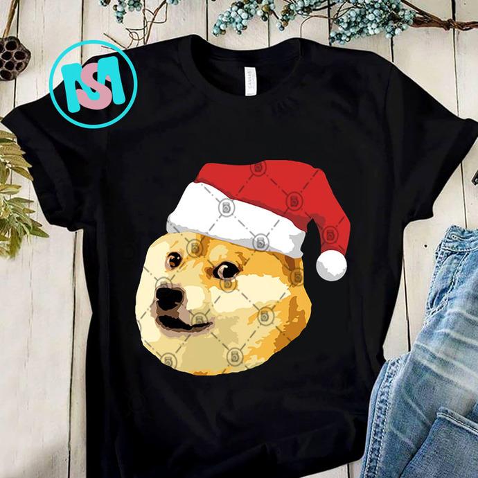 Christmas Doge Meme Shiba Inu Funny PNG, Shiba Inu PNG, Dog PNG, Merry Christmas