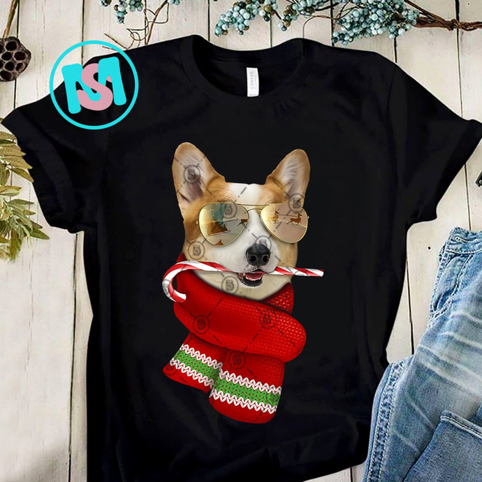 Corgi Cute Christmas PNG, Corgi PNG, Merry Christmas PNG, Dog PNG, Digital