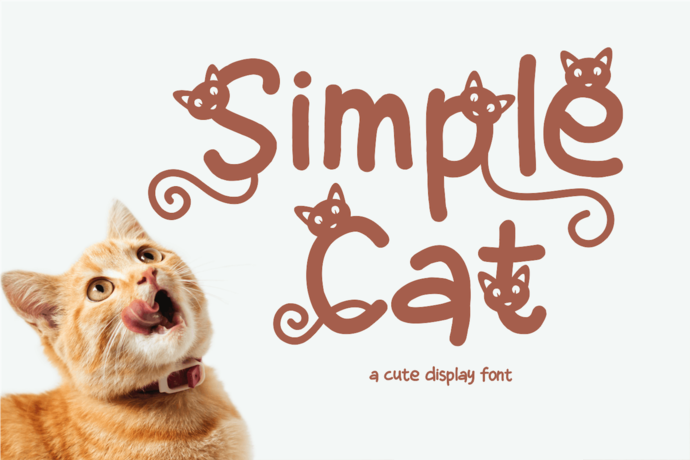 Premium Font, Handwritting Font, Cat Font, A Display Font, Cute Font, Lovely