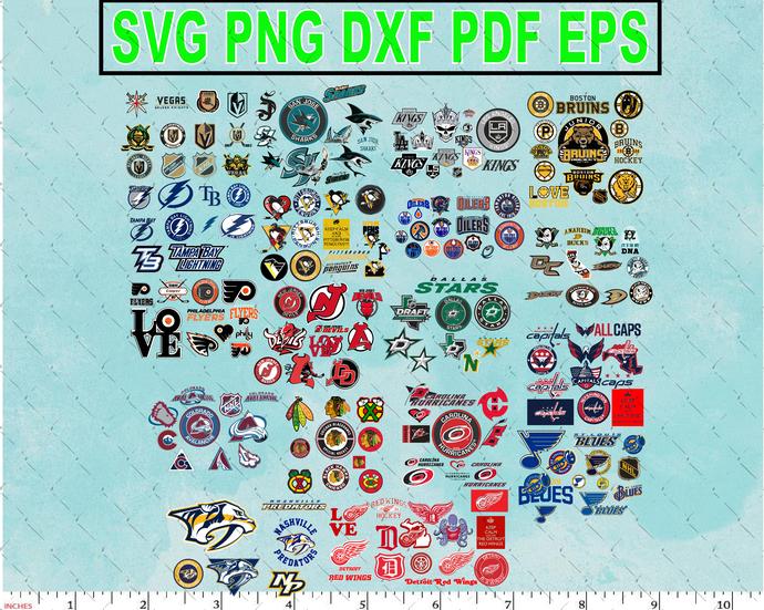 Bundle NHL Team svg - NHL Logo Cut File ,Clipart ,Instant Download