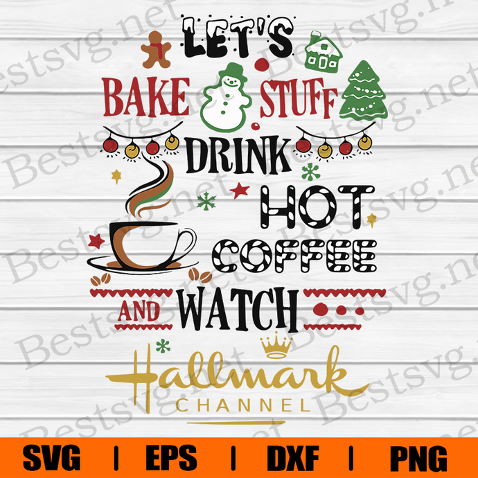 Bundledigital Lets Bake Stuff Drink Hot Coffee Watch Hallmark Channel, Merry