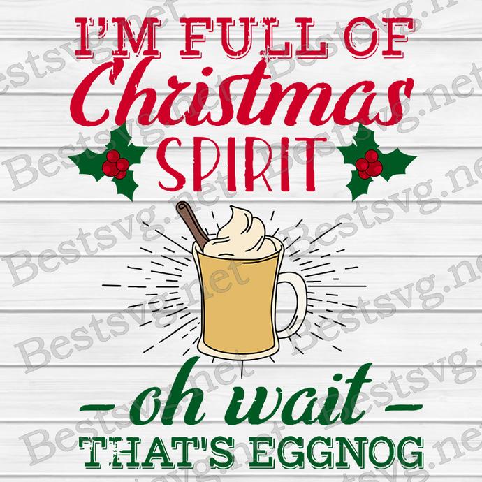 Bundledigital I'm Full Of Christmas Spirit Svg, Grinch Christmas Svg, Grinch