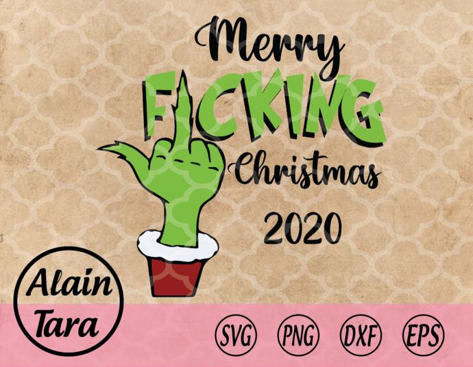 Merry Christmas Svg,Mery Fucking Christmas 2020 Svg,Merry Christmas 2020