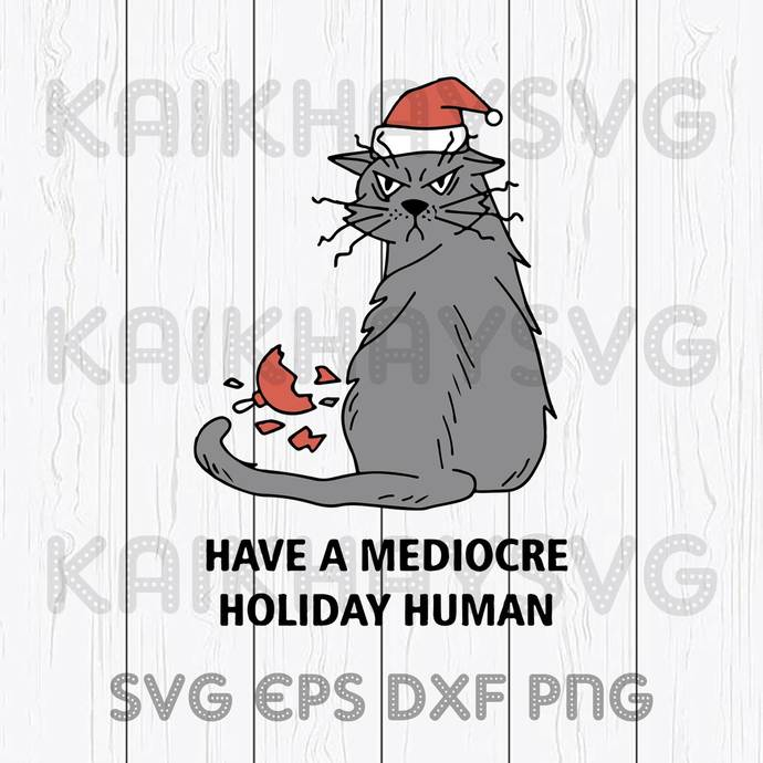 Have A Mediocre Holiday Human 2020 Cricut, SVG, EPS, DXF, JPG, PNG,Instant