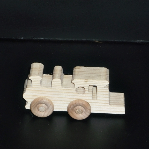 Birthday Party Pack 10 Wood Toy Train Engines BP-1-255AAH-U unfinished or