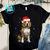 Santa Beagle With Christmas Lights PNG, Beagle PNG, Dog PNG, Santa Hat PNG,