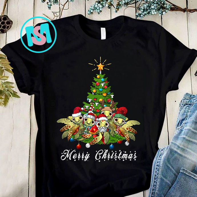 Sea Turtles Lover Xmas PNG, Sea Turtles PNG, Christmas Tree PNG, Merry Christmas