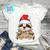 Sloth Christmas Tree Light PNG, Sloth PNG, Santa Hat PNG, Christmas Lights PNG,