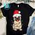 Womens Pug Christmas PNG, Pug PNG, Santa Hat PNG, Christmas Lights PNG, Merry