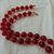 vintage Monet transparent red beads necklace gold mint lucite
