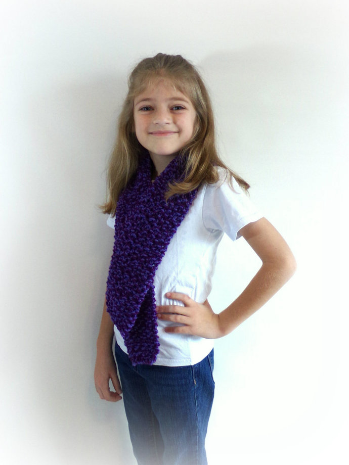 Made to Order Double Knit Scarf in Toddler/Child/Youth Size--Many Colors