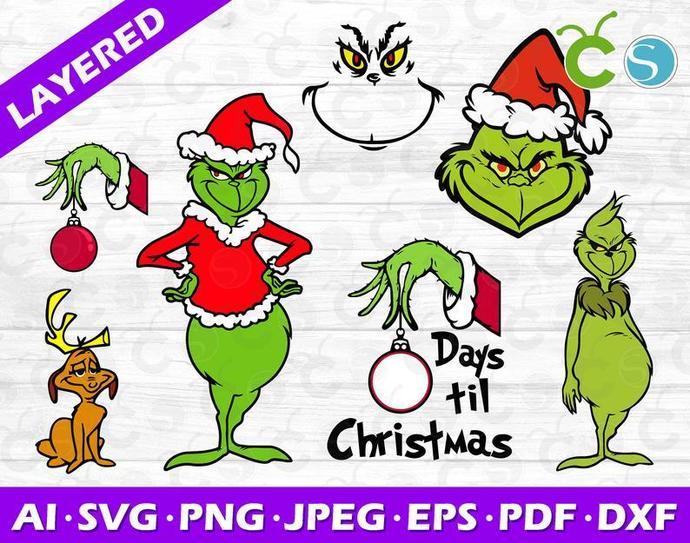 Grinch SVG,Grinch Silhouette Svg ,Grinch SVG bundle,grinch birthday svg, grinch