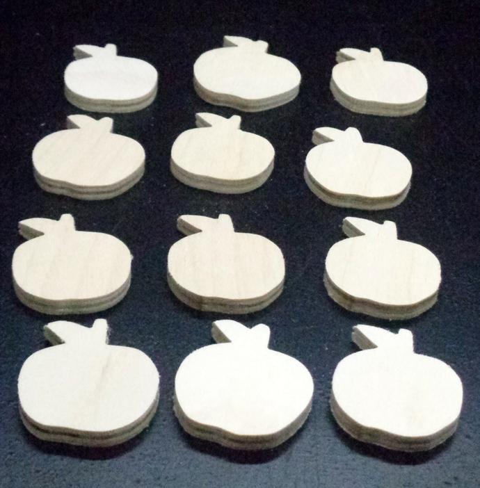 Pkg of 12 Apple Cutouts WCO-34-25 Unfinished