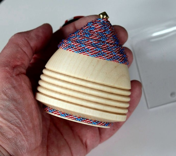 Handmade Throw Top - Eastern Hard Maple with USA Theme